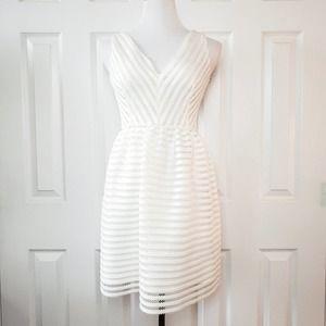 Bar III Striped Eyelet Sleeveless Dress